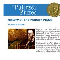 History of The Pulitzer Prizes