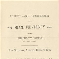 1904 Commencement Class Program