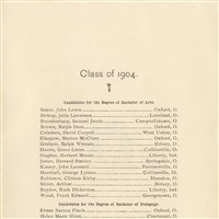 Class of 1904 Commencement