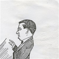 Caricature of Dr. Benton