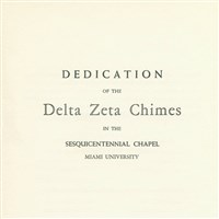 Dedication of the Delta Chimes Program