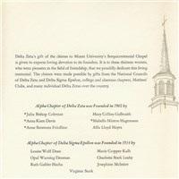 Dedication of the Delta Chimes Program - Inside