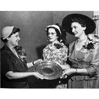 Dr. Mary Hill Fulstone Receives First Woman of the Year Award in 1950