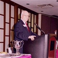 Dr. Phillip Shriver, guest speaker on Founders Day, 2002