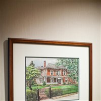 Painting of the Delta Zeta National Historical Museum and Headquarters