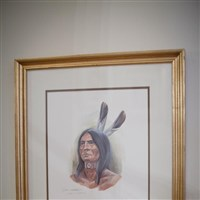 Lucile Cooks Painting of Miami Native American