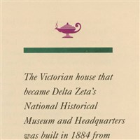 Origins of the Victorian house that became Delta Zeta's home