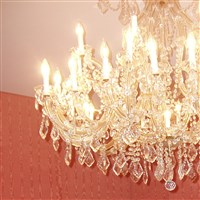 Parlor's Crystal Chandelier
