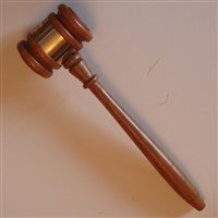 Lucile Crowell Cooks', Miami (OH) - Alpha, engraved gavel