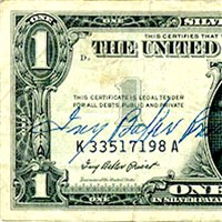 Ivy Baker Priest Signed Money