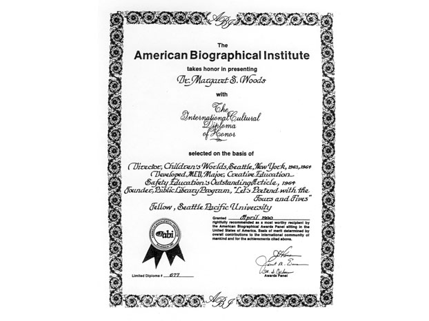 American Biographical Institute Certificate